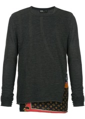 Kolor contrast long-sleeve sweater
