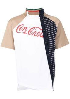Kolor contrast-panel cotton t-shirt
