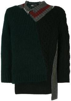 Kolor contrast-panel funnel-neck jumper