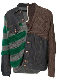 Kolor contrast-panel jacket