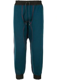 Kolor contrast-stitch track pants