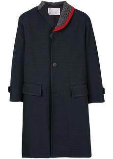Kolor contrasting-lapel asymmetric coat