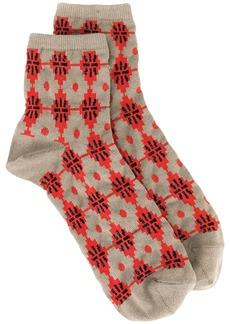 Kolor geometric patterned socks