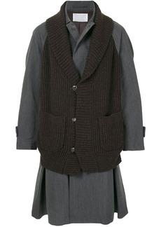 Kolor layered-look midi coat