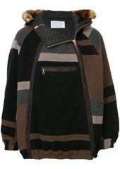 Kolor pull-over knitted jacket