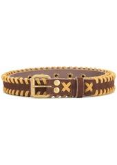Kolor whipstitch belt