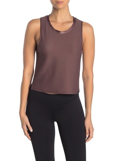 Koral Crescent Mesh Crop Tank Top