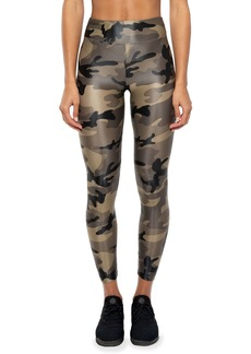 Koral Activewear Lustrous High-Rise Camo-Print Leggings