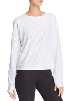 KORAL Sofia Mesh Long-Sleeve Pullover Top