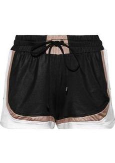Koral Woman Blackout Color-block Sateen Shorts Black