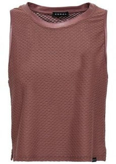 Koral Woman Crescent Cropped Mesh Top Grape