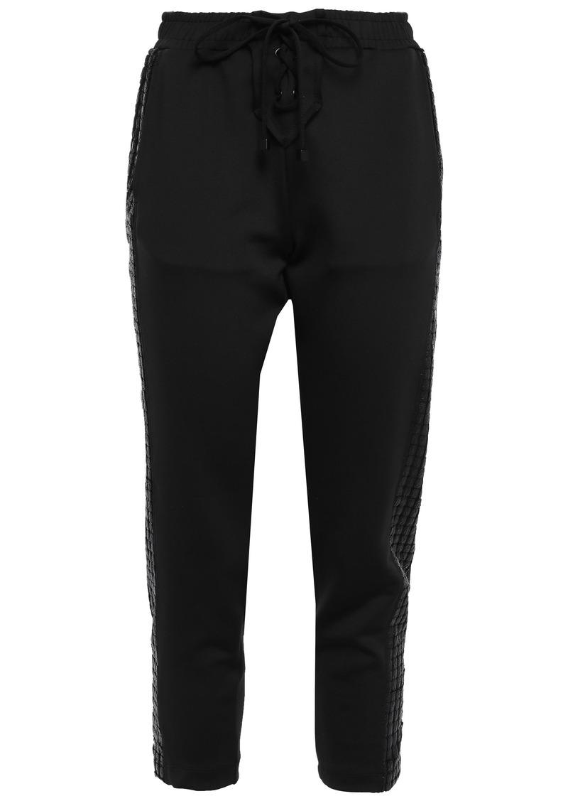 Koral Woman Dale Striped Tech-jersey Track Pants Black