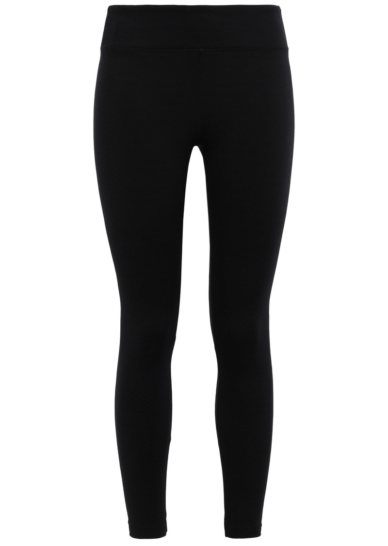 Koral Woman Drive Serpentine Stretch Jacquard-knit Leggings Black