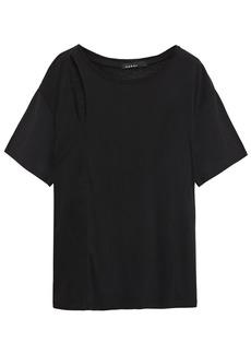 Koral Woman Fluid Naturae Cutout Tencel And Linen-blend T-shirt Black