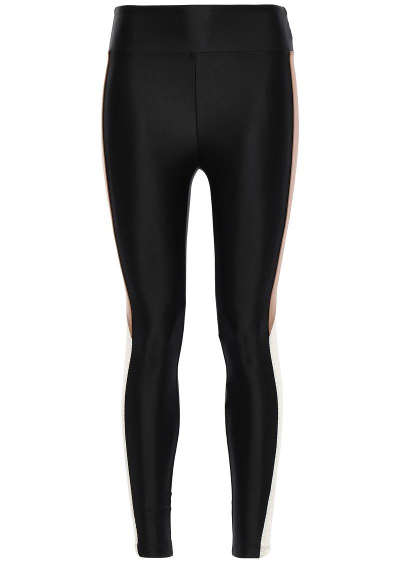 Koral Woman Mesh-paneled Stretch Leggings Black
