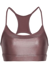 Koral Woman Pacifica Mesh-trimmed Coated Stretch Sports Bra Brick
