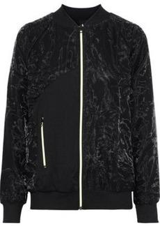 Koral Woman Soho Paneled Crinkled-shell And Ribbed-knit Jacket Black