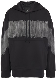 Koral Woman Titrate Metallic Embroidered Scuba Hoodie Black