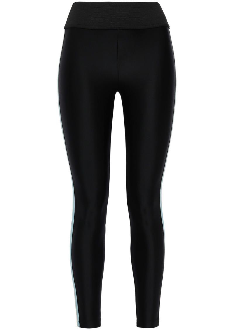 Koral Woman Tone Striped Stretch Leggings Black
