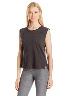 Koral Women's Petite Brink Crop Top Charcoal NEPS S