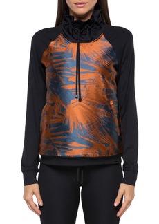 Koral Roulette Funnel-Neck Printed Sweatshirt