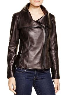 KORS Michael Kors Leather Moto Jacket