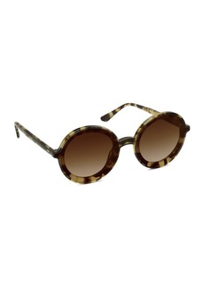 KREWE Louisa Oversized Round Acetate Sunglasses