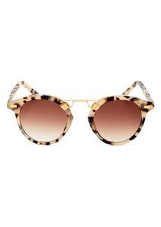 Krewe ST. LOUIS Unisex 24K Round Sunglasses, 46mm