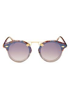 Krewe ST. LOUIS Unisex 24K Round Sunglasses, 63mm