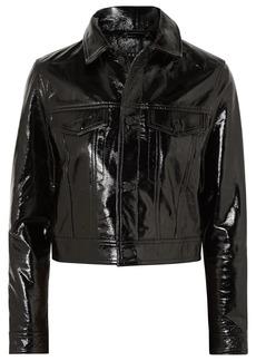 Ksubi A2b Textured Patent-leather Jacket