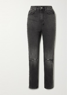 Ksubi Chlo Wasted Distressed High-rise Straight-leg Jeans