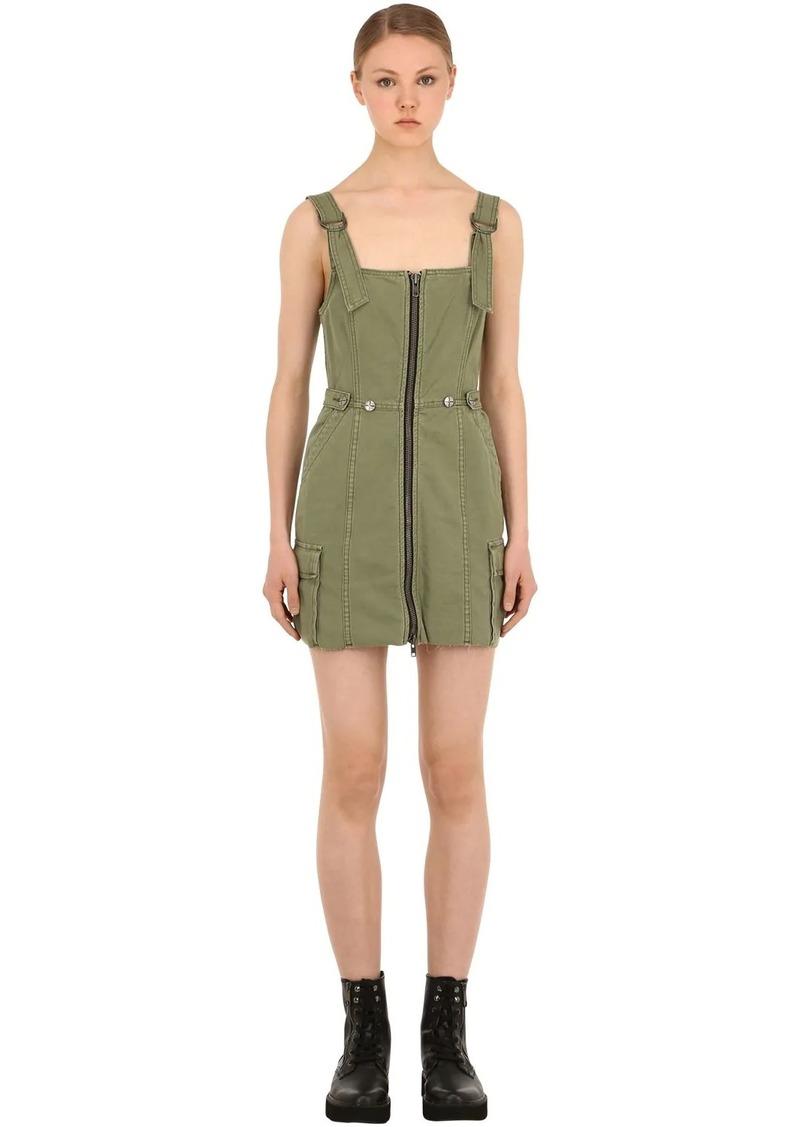 Ksubi Crypt Cotton Pinafore Dress