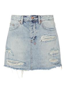 Ksubi Distressed Denim Mini Skirt