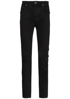 Ksubi distressed-knee slim-cut jeans