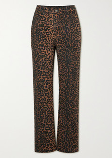 Ksubi Dynamo Leopard-print High-rise Straight-leg Jeans