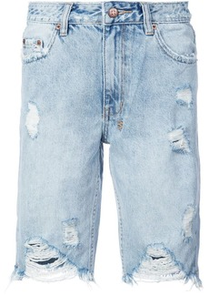 Ksubi frayed denim shorts