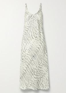 Ksubi Genesis Printed Silk-satin Midi Dress