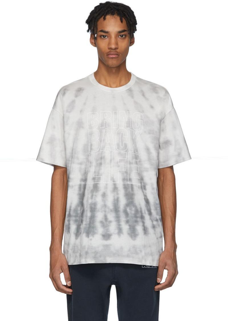 Ksubi Grey Tie-Dye 'Bring Back Life' T-Shirt