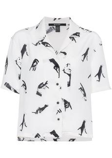 Ksubi Hand print silk shirt