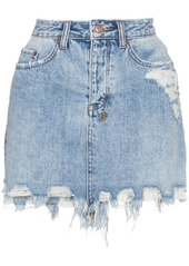 Ksubi high waisted ripped denim mini skirt abvca496ded a