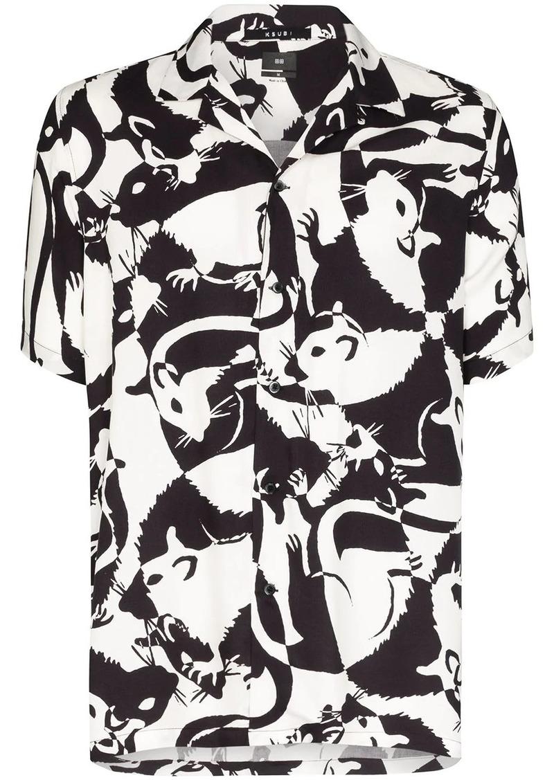 Ksubi klub rat printed short sleeve shirt