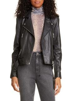 Ksubi Bad Company Leather Biker Jacket