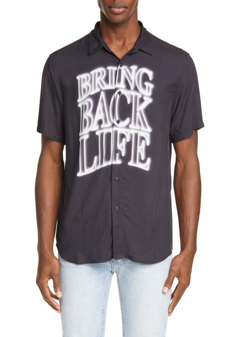 Ksubi Bring Back Life Short Sleeve Button-Up Shirt