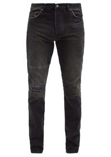 Ksubi Chitch leather-panel slim-leg jeans