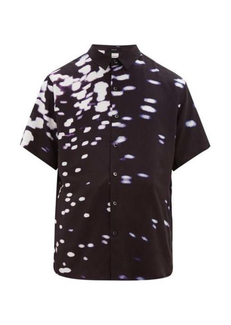 Ksubi Fractals-print satin shirt