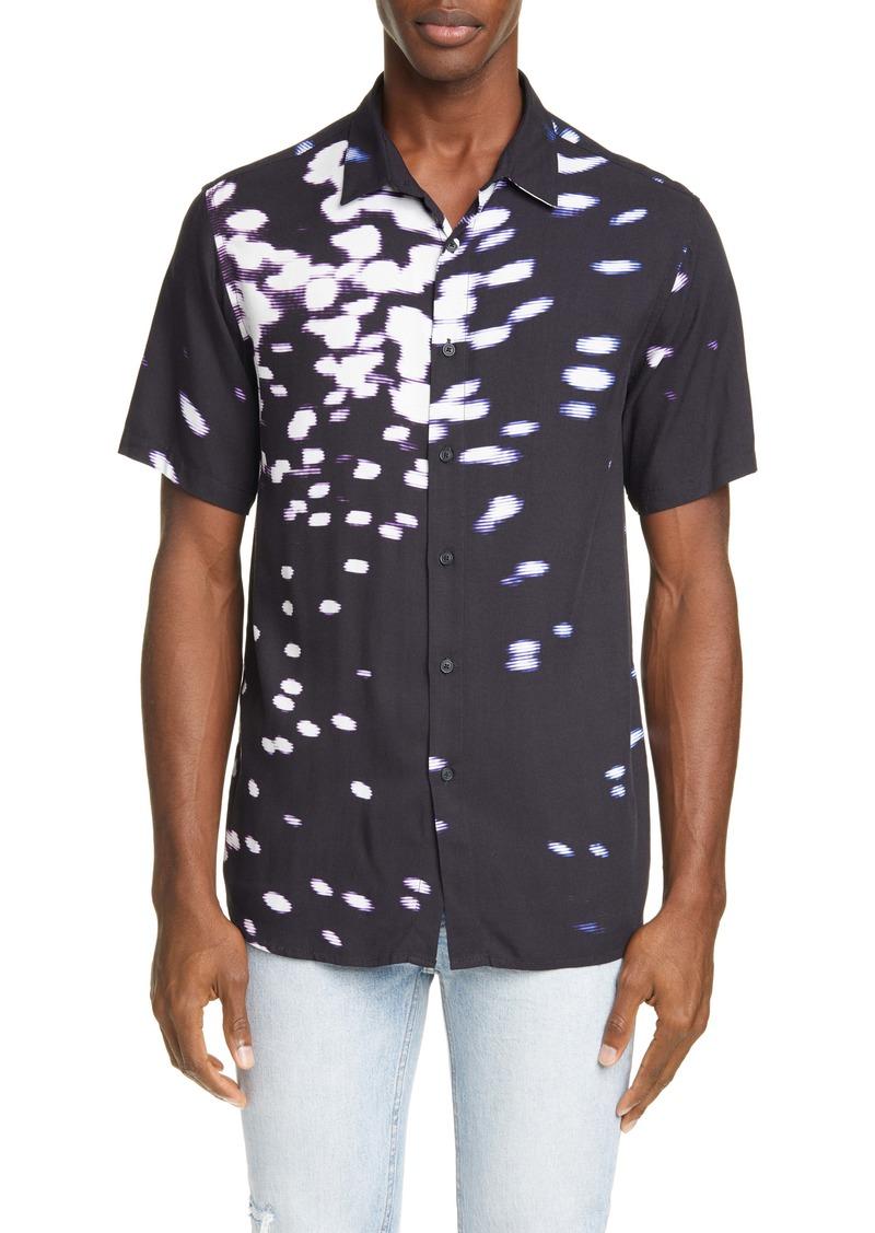 Ksubi Fractals Resort Short Sleeve Button-Up Shirt