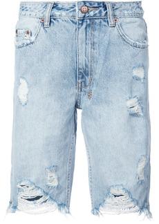 Ksubi frayed denim shorts - Blue