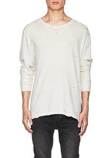 Ksubi Men's Distressed Cotton-Linen T-Shirt