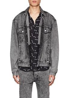 Ksubi Men's Embroidered Denim Trucker Jacket