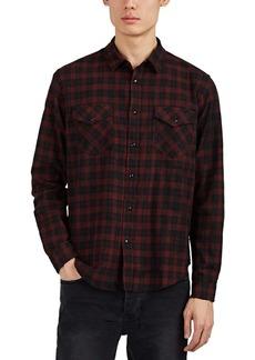 Ksubi Men's Malcolm Plaid Herringbone-Weave Cotton Shirt
